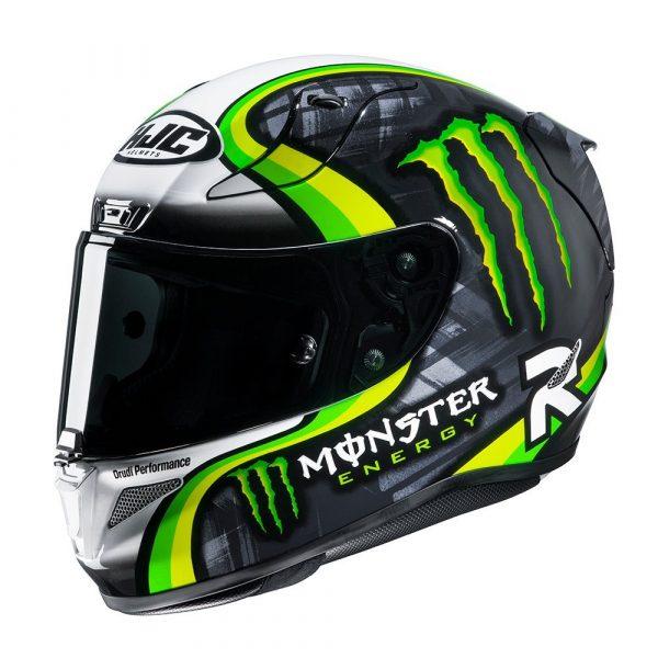 HJC RPHA 11 Crutchlow Streamline Helmet - Green colour, UK