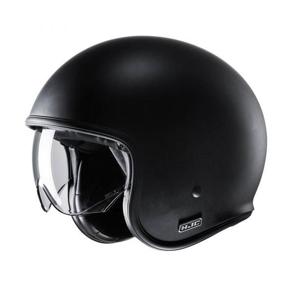 HJC V30 Helmet – Matt Black colour, Chelsea, UK