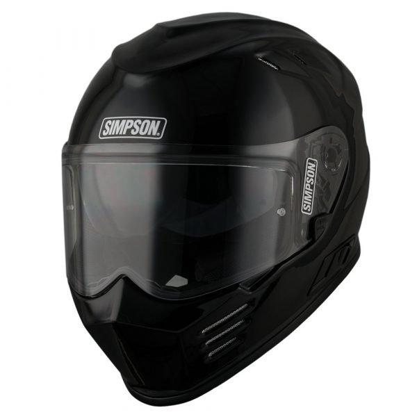 Simpson Venom Solid Helmet - Gloss Black colour, Motorbike Clothing Shop