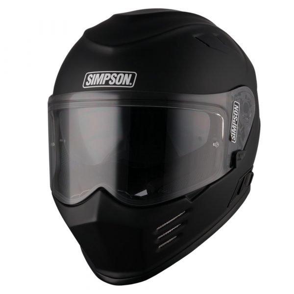 Simpson Venom Solid Helmet - Matt Black colour
