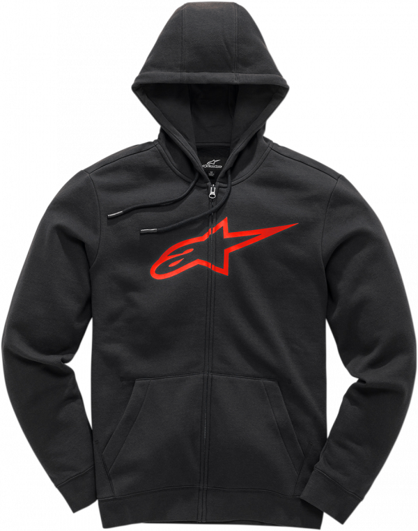 Alpinestars Ageless II Fleece (Hoodie) - Black/Red colour