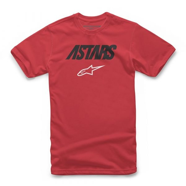 Alpinestars Angle Combo T-Shirt - Red colour, Chelsea Motorcycle Clothing Shop