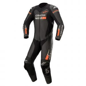 Alpinestars Gp Force Chaser Leather Suit 1 Pc - Black/Red/Fluo colour