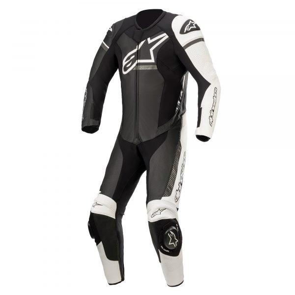 Alpinestars Gp Force Phantom Leather Suit 1 Pc - Black/White/Metallic Grey colour