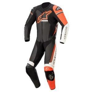 Alpinestars Gp Force Phantom Leather Suit 1 Pc - Black/White/Red/Fluo colour