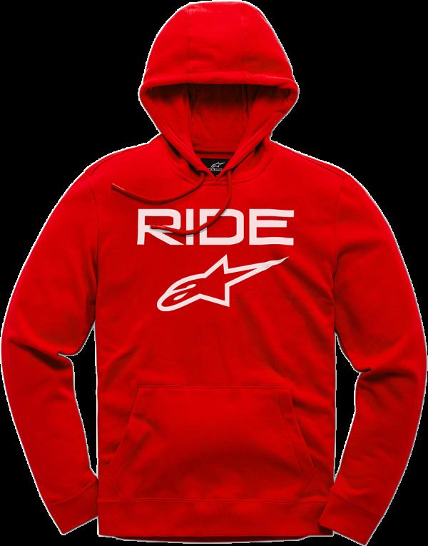 Alpinestars Ride 2.0 Fleece - Red/White colour, MCS