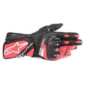 Alpinestars Stella Sp-8 V3 Gloves - Black/White/Diva Pink colour