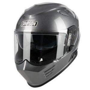 Simpson Venom Solid Helmet - Gunmetal colour